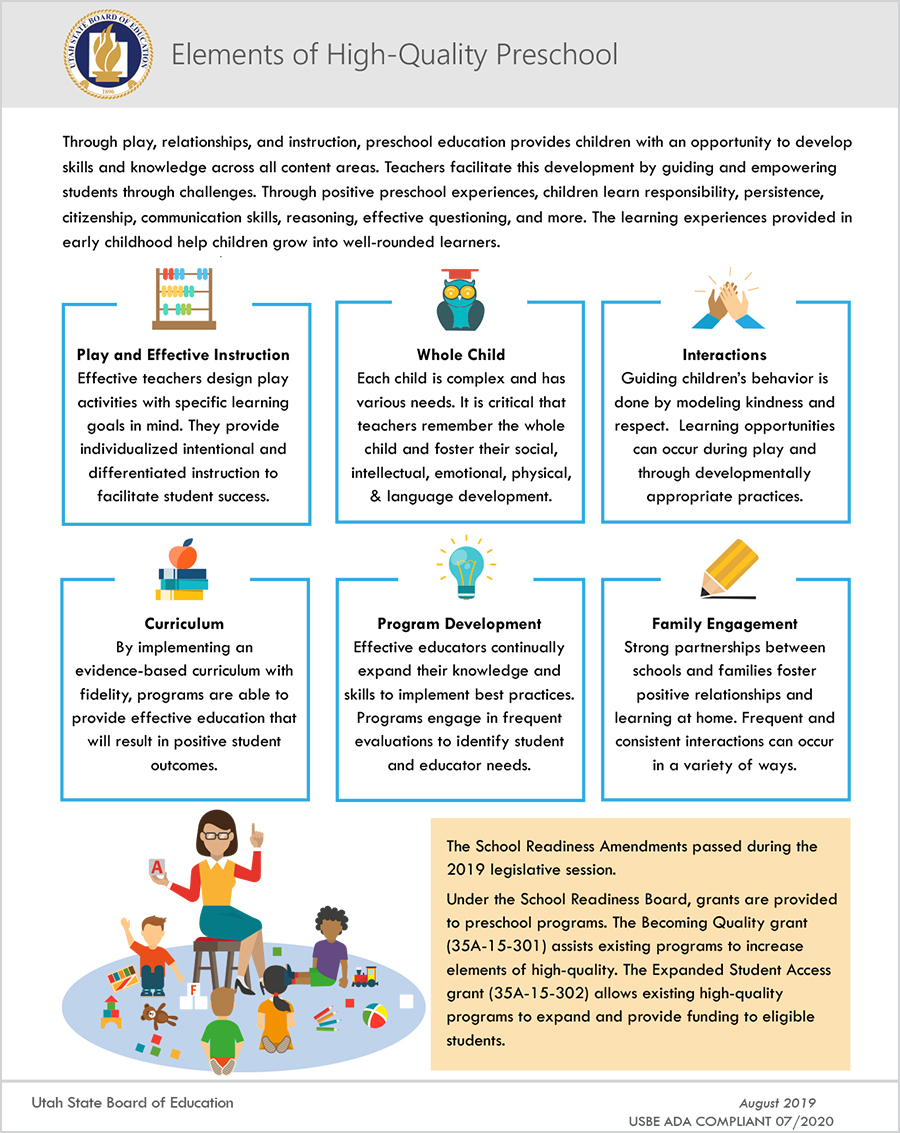Elements of High-Quality Preschool
